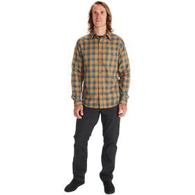Marmot Bodega Lightweight Camisa Franela Manga Larga Hombre, marrón